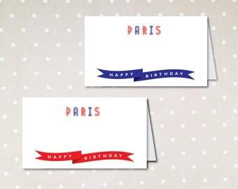 Paris Theme Party Name Label Food Label. Parisian. Eiffle Tower. Parisian. DIY. Printable Digital