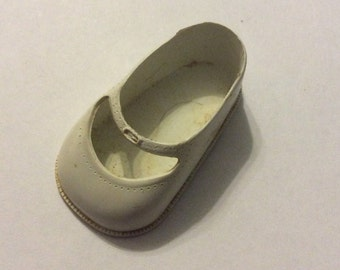 Single Made in USA 14 white Doll Shoe vinyl Mary Jane Style