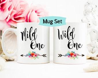 Wild One, Mild One Best Friends Mug Set, Best Friend Birthday Gift, Gift for sister, Funny sister Mug, Funny Friend mug, Birthday Mug
