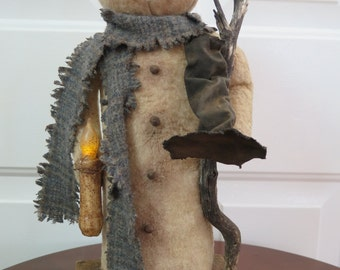 Primitive Snowman Doll Handmade By Lori At The Primitive Crow.com