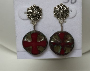 Sterling Silver dangle earrings-game of thrones style