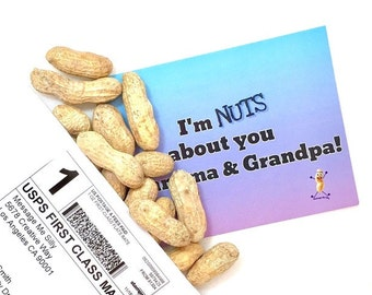 I'm NUTS about you G & G! Gag Gift / Gift for Her /  Funny Greeting Card / Prank Gift / Grandparents Card / Funny Cards/ Novelty gift