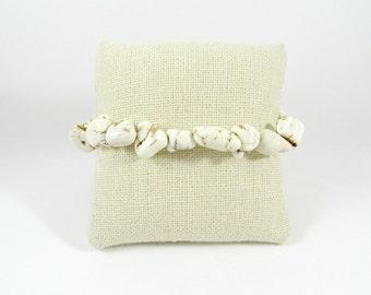 White Howlite Nugget Bracelet
