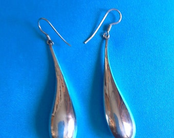 Long sterling silver earrings / Sterling drop earrings