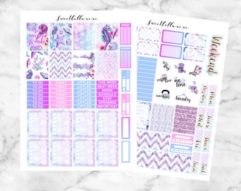 SALE 50% Mermaid Princess Kit Printable Planner Stickers Cut Files / Erin Condren Planner Stickers / Printable Stickers / Weekly Planner Kit
