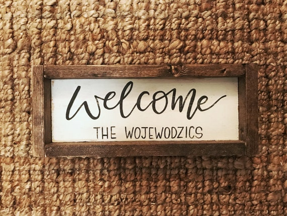 Welcome Sign Family Name Sign Family Established