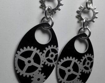 Earrings Scales with Cogwheels