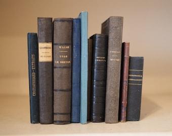 11 Blue toned antique books for decoration