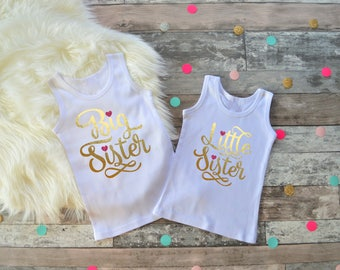 Sibling Set, Big Sister Little Sister Set, Sister Shirt Set, Big Sister Shirt, Little Sister Shirt, Sisters Set, Sibling Announcement