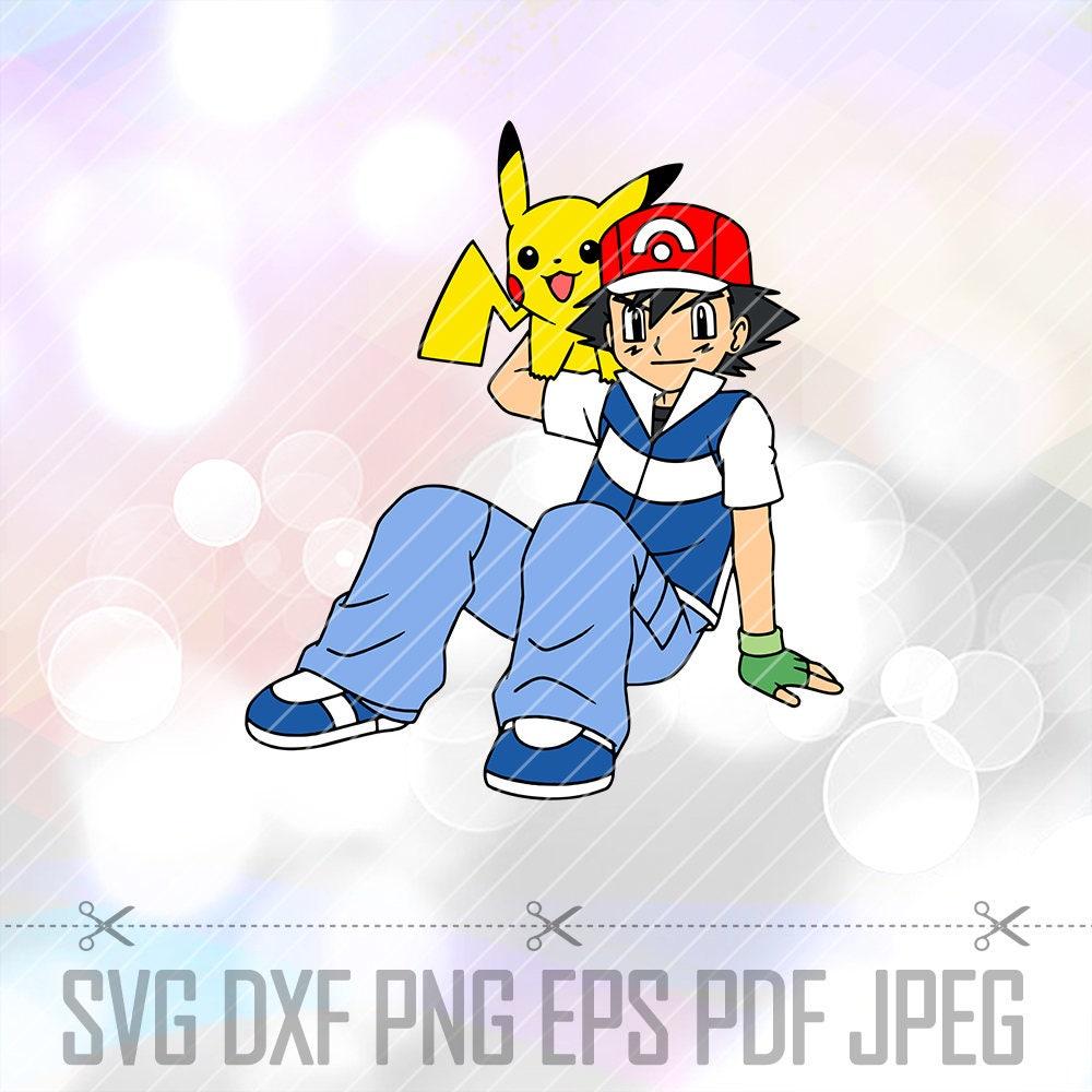 Download SVG DXF Pikachu Pokemon Ash Ketchum Vector Cut File Cricut