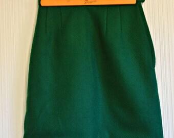 50's Emerald Green Pencil Skirt