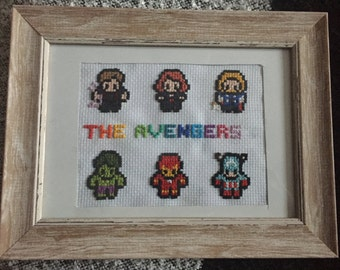 Marvel The Avengers Cross Stitch Frame