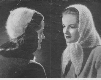 1940s knitted hats