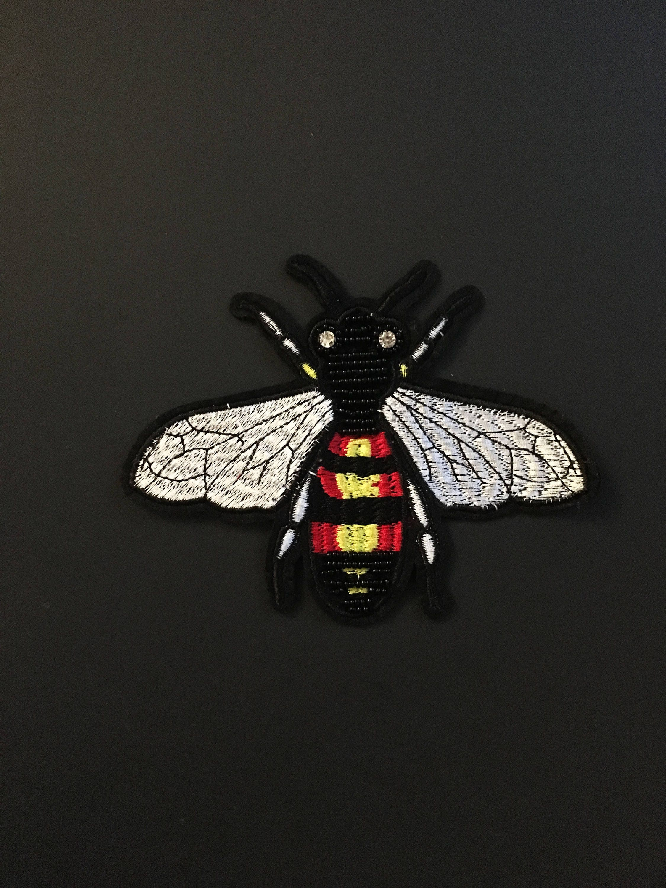 Iron On Patch Bee Embroidery Patch Gucci Style Patch Bee