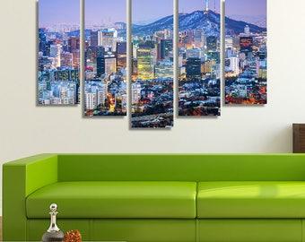 Seoul, South Korea, Cityscape, Home Wall Décor, City Skyline, Photography Wall Art, Korean Art, City Art, Home Wall Décor, Wall Hanging