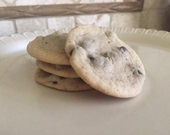 Chocolate Chip Cookies - Gourmet Chocolate Chip Cookies from Scratch - Chewy Cookies - 1 dozen - Custom Cookies