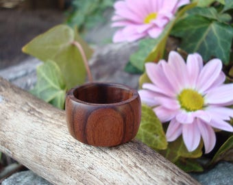 Rosewood Ring (7 1/2) Earth Jewelry/Handcrafted Ring/Natural Wood/Simple Ring/Heart Chakra/Organic Jewelry/Indian Rosewood/FromHerTrees/Gaia