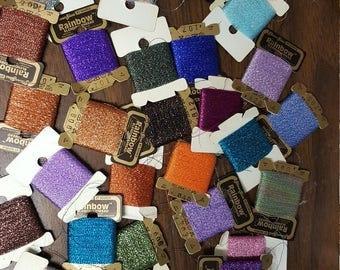 Rainbow Blending Thread 31 Skeins Metallic Embroidery Thread, New