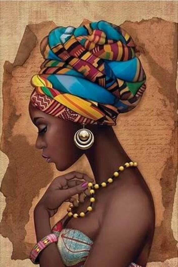 African artwork wall decor