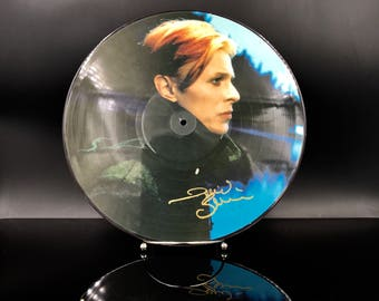 DAVID BOWIE - Low Live - Picture Disc Vinyl Record - Rare Vintage Bowie lp - Music On Vinyl - Great Gift!