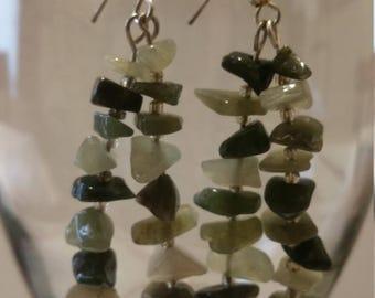Moss agate earrings