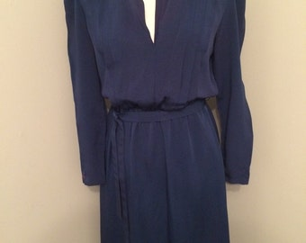Dress dark blue vintage