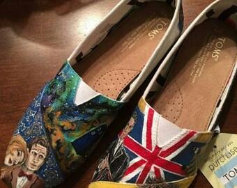 Custom Dr Who Galaxy Shoes