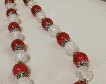 Red and Crystal Necklace