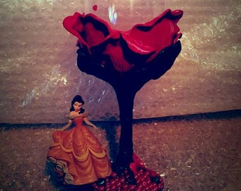 Beauty And The Beast Inspired Wine Glass