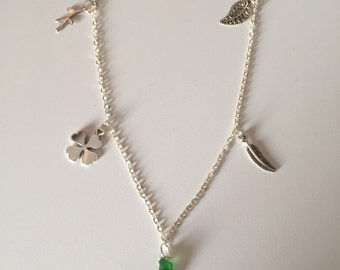Elegant polished seaglass charm necklace