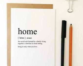 Housewarming Card - New Home Card - Congratulations Card - Congrats Card - Greeting Card - Humorous Greeting Card