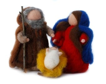 Nativity in carded wool