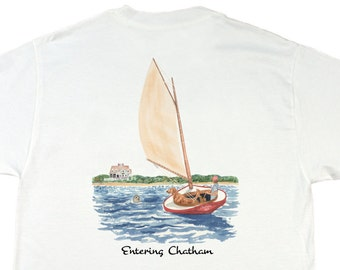 Entering Chatham - Cape Cod - Men's preppy tee - by Chatham Ivy
