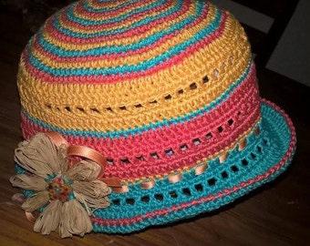 Summer baby crochet hat. Summer crochet baby Hat