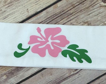 Handmade Headband with Colorful Hibiscus Flower, Gym Wear, Colorful Headwear, Cute Hairc Accessories
