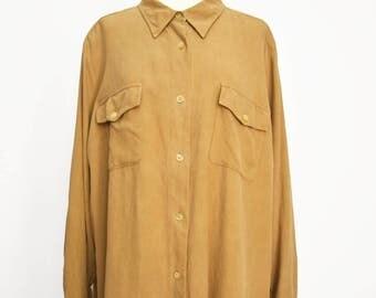 Shirt 100% silk/silk tunic vintage Ralph Lauren woman