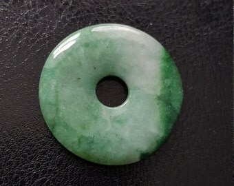 Vintage Hand-Carved Natural Jade Peace Buckle Coin Pendant
