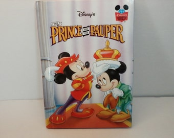 The Prince and the Pauper Book From Disney's Wonderful World of Reading Collection 1993 The Walt Disney Company