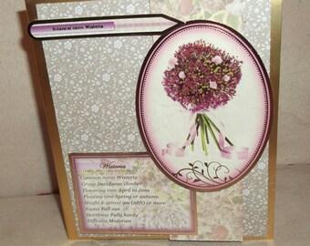 Flower theme Decoupage Card.