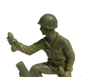 "Vintage Tim-Mee Toys - Toy Soldier Army Man Vietnam Era 1960's 4"" USA"