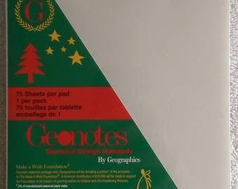"Geographics Geonotes Seasonal Design Notepads - ""Seasons Greetings"" Notepad - 75 Sheets; 5-1/2"" x 8-1/2"" - High Quality"