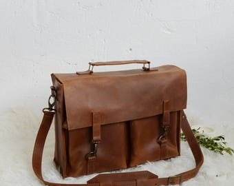 Briefcase, leather briefcase, bag leather satchel, briefcase men, satchel vintage, leather bag for work, handmade, cross body bag, brown bag