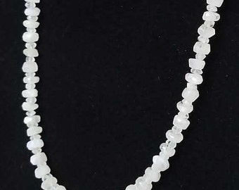 Moonstone Heishi Bead Necklace