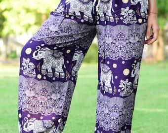 Violet Elephant Japanese Woman Harem Pants Yoga pants - HP007