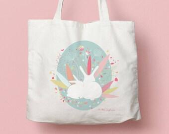 """Canvas bag / Tote bag """"Rabbits spring"""""""