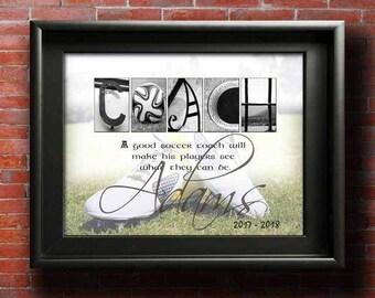 Soccer Coach Gift, DIGITAL, Soccer Coach Gift Ideas, Soccer Coach Printable, Soccer Coaches Gift, Gift for Soccer Coach, Thanks Soccer Coach