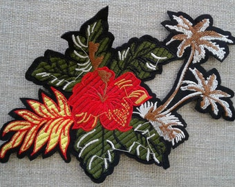 Flower patch applique sew on #7C1468A