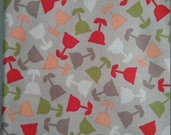 One Fat quarter//100% cotton//quilting fabric//floral//craft//quilt//patchwork//colourful