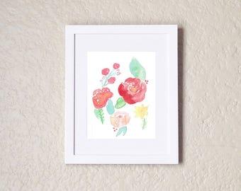 Flower Print, Flower Painting, Watercolor Flowers, Watercolor Floral, Watercolor Flower Print, Flower Decor, Flower Wall Art, Flowers