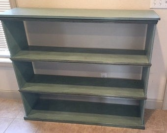 Handcrafted distressed bookcase